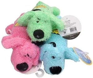Multipet Loofa Dog Plush Dog Toy (colors May Vary)