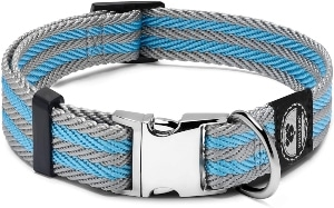 Pet Collar With Metal Buckle And D Ring Durable Dog Collar With Reinforced Stitching And Nylon Web