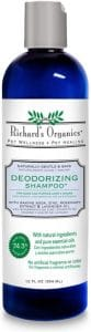 Richard's Organics Deodorizing Shampoo For Dogs, 12 Oz. – With Baking Soda, Aloe Vera, Zinc, And Mor