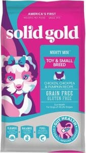 Solid Gold Mighty Mini Sensitive Stomach Probiotic Support Grain Free Natural Holistic Dog F