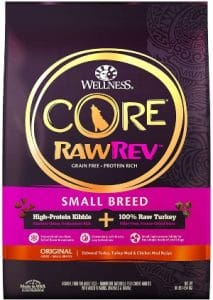 Wellness Core Rawrev Natural Grain Free Small Breed Dry Dog Food, Original Turkey & Chicken With Fre