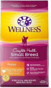 Wellness Natural Pet Food 89116 Complete Health Natural Dry Small Breed Puppy Food, Turkey, Salmon &