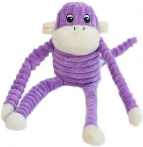 Zippypaws Spencer The Crinkle Monkey Dog Toy, Squeaker And Crinkle Plush Toy