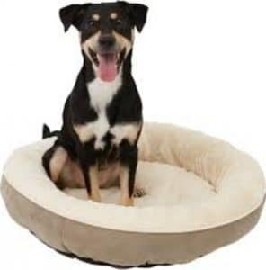 Frisco Velvet Round Bolster Dog Bed