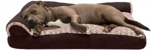 Furhaven Two Tone Deluxe Chaise Memory Top Dog Bed