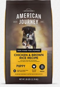 American Journey Chicken & Brown Rice Protein First Recipe Puppy Dry Dog Food