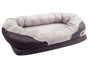 BarksBar Snuggly Sleeper Orthopedic Bolster Dog Bed w/Removable Cover