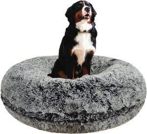 Bessie + Barnie Signature Extra Plush Faux Fur Shag Bagel Dog Bed