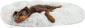 Best Friends By Sheri Lux Fur Bolster Cat & Dog Bed