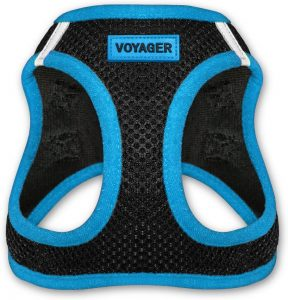 Best Pet Supplies Voyager Black Trim Mesh Dog Harness
