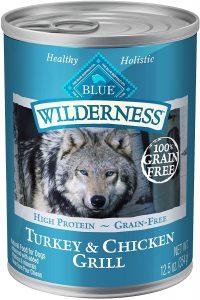 Blue Buffalo Wilderness Turkey & Chicken Grill Grain Free Puppy Canned Dog Food