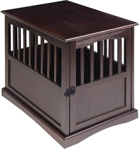 Casual Single Door Furniture Style Dog Crate & End Table