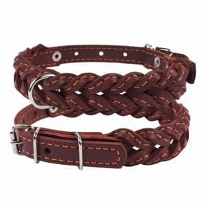 Collardirect Braided Leather Dog Collar