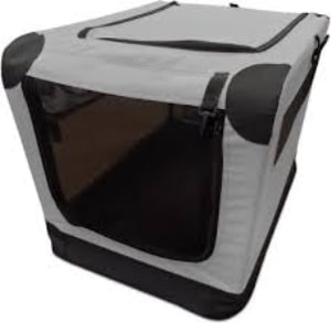 Double Door Collapsible Soft Sided Dog Crate