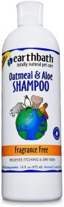 Earthbath Oatmeal And Aloe Fragrance Free Dog And Cat Shampoo