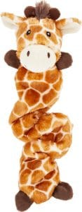 Frisco Bungee Plush Squeaking Giraffe Dog Toy