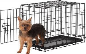Frisco Heavy Duty Fold & Carry Single Door Collapsible Wire Dog Crate