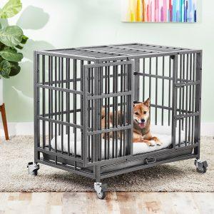 Frisco Heavy Duty Steel Metal Single Door Dog Crate
