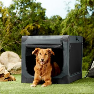Frisco Indoor And Outdoor 3 Door Collapsible Soft Sided Dog Crate