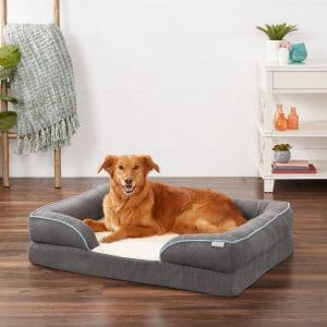 Frisco Plush Orthopedic Front Bolster Dog And Cat Bed
