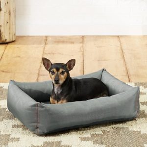 Frisco Rectangular Bolster Dog Bed w/Removable Cover