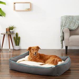 Frisco Sherpa Orthopedic Bolster Dog Bed