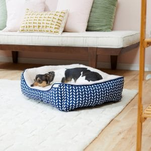 Frisco Sherpa Rectangular Bolster Cat & Dog Bed