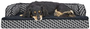 FurHaven Comfy Couch Cooling Gel Cat & Dog Bed w/Removable Cover