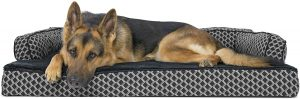 FurHaven Comfy Couch Orthopedic Bolster Dog Bed w/Removable Cover