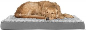 FurHaven NAP Deluxe Orthopedic Pillow Cat & Dog Bed w/Removable Cover