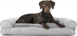 Furhaven Plush & Suede Orthopedic Bolster Cat & Dog Bed