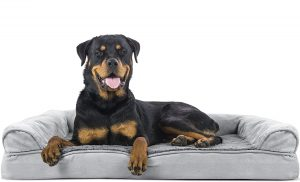 Furhaven Plush And Suede Orthopedic Bolster Dog Bed