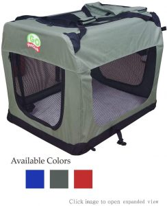 Go Pet Club Double Door Collapsible Soft Sided Dog Crate