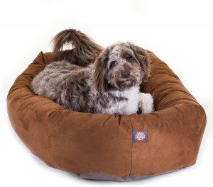 Majestic Pet Sherpa Bagel Bolster Dog Bed