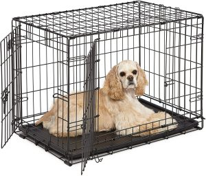 Midwest Lifestages Single Door Collapsible Wire Dog Crate