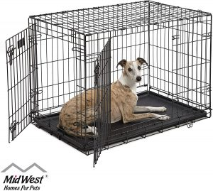 Midwest Icrate Fold And Carry Double Door Collapsible Wire Dog Crate
