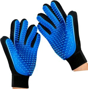 Mr. Peanut's Hand Gloves Dog & Cat Grooming & Deshedding Aid