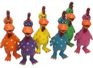 Multipet Latex Globken Chicken Squeaky Dog Toy