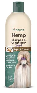 Naturvet Hemp 2 In 1 Dog Shampoo & Conditioner With Argan & Coconut