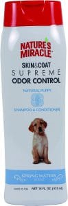 Nature's Miracle Supreme Odor Control Natural Puppy Shampoo & Conditioner