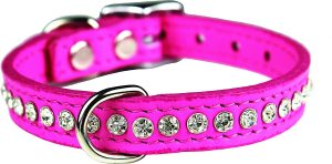 Omnipet Signature Leather Crystal Dog Collar