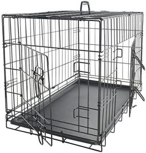 Paws And Pals Oxford Double Door Collapsible Wire Dog Crate