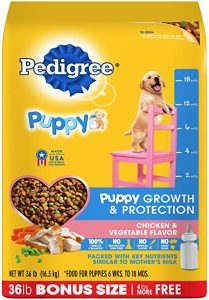 Pedigree Puppy Growth & Protection Chicken & Vegetable Flavor Dry Dog Food