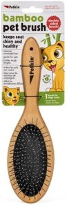 Petkin Soft Grip Bamboo Two Sided Dog Brush