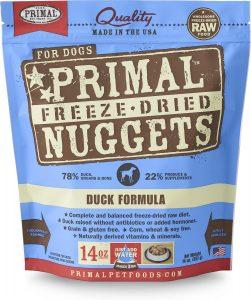 Primal Duck Formula Nuggets Raw Freeze Dried Dog Food