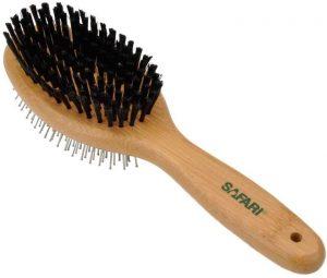 Safari Bamboo Pin And Bristle Dog Brush