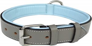 Soft Touch Collars Leather Two Tone Padded Collar