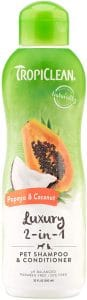 Tropiclean Luxury 2 In 1 Papaya And Coconut Pet Shampoo And Conditioner