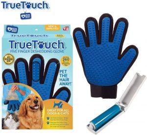 True Touch Five Finger Pet De Shedding Glove