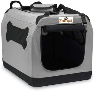 Zampa Double Door Collapsible Soft Sided Dog Crate